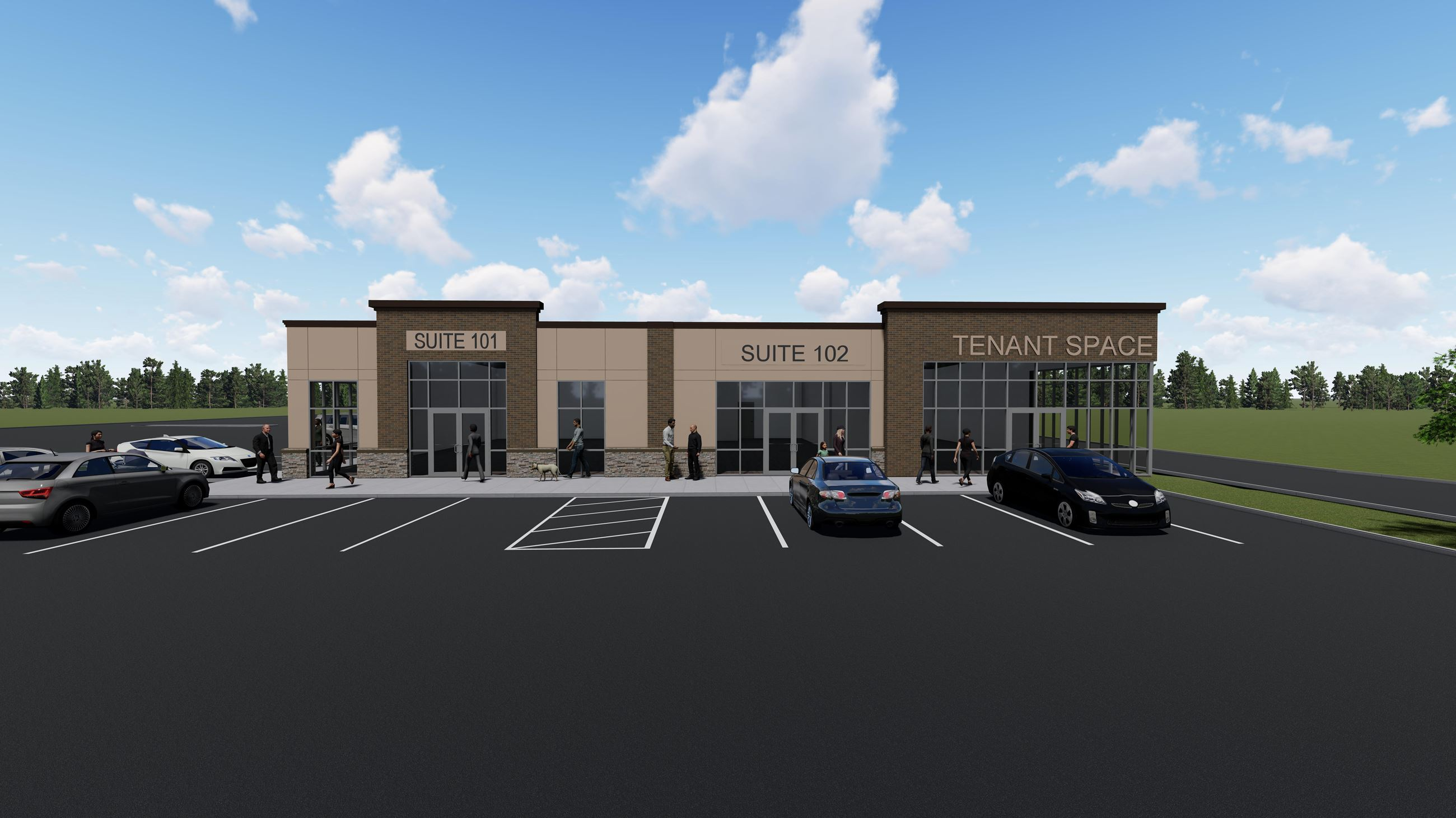 Eastpointe Shoppes Rendering Building 2