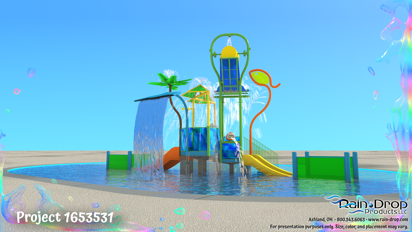 Splash Zone Childrens Waterplay Rendering